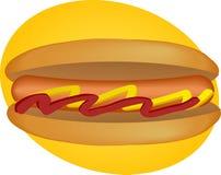 Hot-dog illustration de vecteur