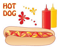 Hot dog advert Royalty Free Stock Photography