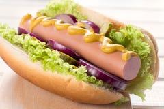 Hot dog americano classico immagini stock libere da diritti