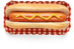 Hot dog avec de la moutarde photos libres de droits