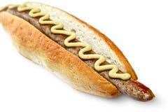 Hot-dog avec la saucisse Photos stock