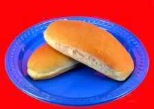 Hot dog bun Stock Images