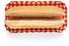Hot dog bun royalty free stock photos