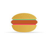 Hot dog in a bun vector illustration Royalty Free Stock Image