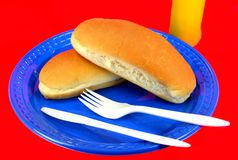 Hot dog buns Stock Images