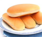 Hot Dog Buns. Some hot dog buns made of wheat flour stock photo