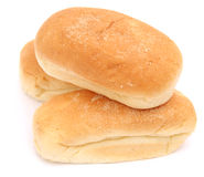 Hot Dog buns. Some hot dog buns of wheat flour royalty free stock photo