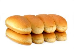 Hot dog buns Royalty Free Stock Images