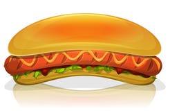 Hot Dog Burger Icon Stock Photo