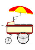 Hot dog cart Royalty Free Stock Images