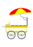 Hot dog cart Royalty Free Stock Photography