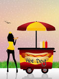 Hot dog cart Stock Photography