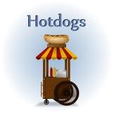 Hot dog cart. Stock Images