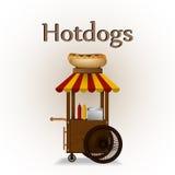 Hot dog cart. Stock Photography