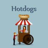 Hot dog cart. Stock Photos