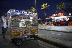 Hot Dog Cart and Kiosk Ipanema Beach Rio Royalty Free Stock Photo