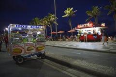 Hot Dog Cart and Kiosk Ipanema Beach Rio Royalty Free Stock Photography