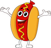 Hot dog cartoon Stock Image