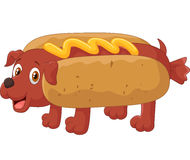 Hot Dog Cartoon Character Royalty Free Stock Photos