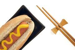 Hot Dog and Chopsticks Stock Image