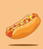 Hot dog. Classic american fast food Stock Photo