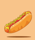 Hot dog. Classic american fast food Royalty Free Stock Photography