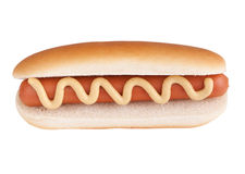 Hot dog with clipping path Stock Image
