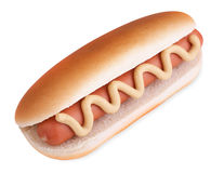 Hot dog with clipping path Royalty Free Stock Images