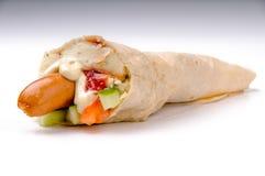 Hot dog con le purè di patate Fotografie Stock Libere da Diritti