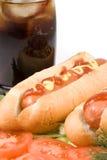 Hot dog con le verdure Immagini Stock Libere da Diritti