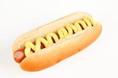 Hot dog con salsa Fotografie Stock Libere da Diritti