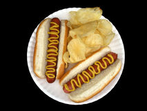 Hot dog con senape #3 Fotografie Stock