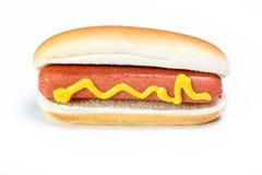 Hot dog con senape Immagini Stock