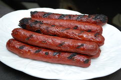 Hot dog cotti Immagine Stock Libera da Diritti