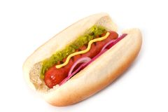 Hot dog cotto Fotografia Stock Libera da Diritti