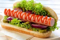 Hot dog czas Obrazy Royalty Free