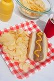 Hot dog d'été Images libres de droits