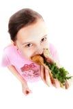 Hot dog d'aliments de préparation rapide photographie stock libre de droits