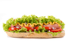 Hot-dog d'isolement Image stock