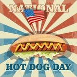 Hot dog day. National hot dog day. Hot dog Royalty Free Stock Photos