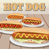 Hot dog day. National hot dog day. Hot dog Royalty Free Stock Photo