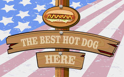 Hot dog day. National hot dog day. Hot dog Stock Photos