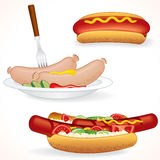 Hot-dog de Freshenes Photos stock