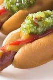Hot-dog de goût images libres de droits