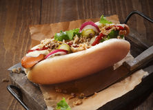 Hot dog de Sumptious Image libre de droits