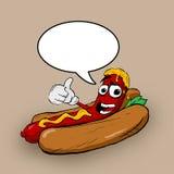 Hot dog del fumetto Fotografia Stock Libera da Diritti