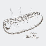 Hot dog design Stock Images