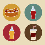 Hot dog design Royalty Free Stock Image