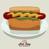 Hot dog design Stock Photo