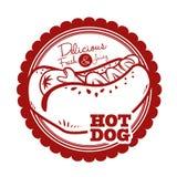Hot dog design Stock Photography